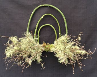 Wreath, Free Shipping Wreath, Lichen Wreath, Natural Wreath, Forest Wreath, Maple Wreath