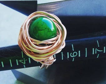Copper statement ring