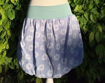 Gr delicate balloon skirt in blue from Muslin. 38-ca 44