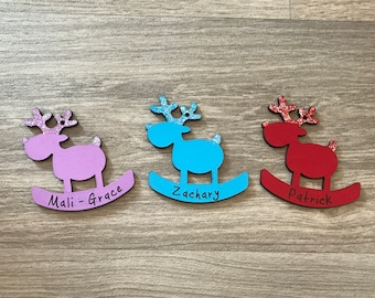 Personalised Reindeer Tree Decorations, Gift Tags, Decorative