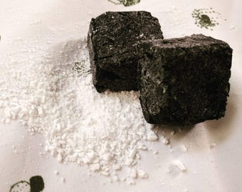 Fire and Salt: charcoal detox bath soak cubes with salts