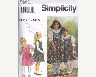Summer Sale Simplicity 9237 Childs' Separates Sewing Pattern