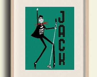 BUY 2 GET 1 FREE/Jack Skellington Cross Stitch Pattern, Nightmare Before/Michael dzhekson/ cross stitch /pdf Instant Download/ #C9