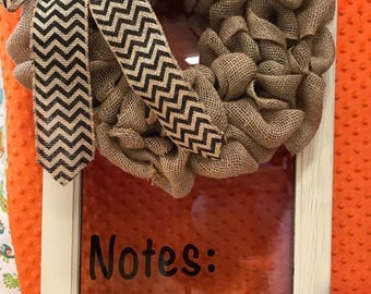 Dry erase note board