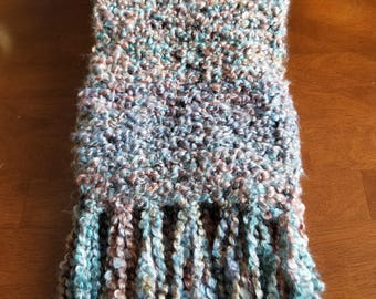 Long Soft Scarf With Tassels and Sedona Colors