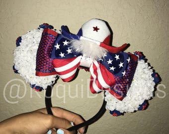 USA Minnie Ears, USA Mickey Ears, America Minnie Ears, America Mickey Ears, Mickey Ears, Minnie Ears, 4th of July, Independence Day