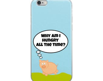 Pig Cute Funny iPhone Case - Iphone 7 case - Iphone 8 case - Iphone 7 plus case - Iphone 6 case - Iphone X case