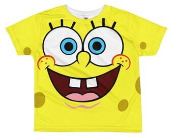 Spongebob All-over kids sublimation T-shirt - Funny kids t-shirt - Kids clothes - Kids tee - Funny kids t-shirts - spongebob t-shirt