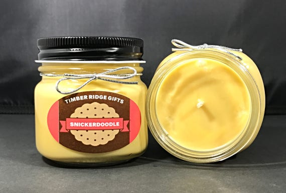 Snickerdoodle - Soy Candle - Food Candles - Scented Soy Candles - Wax Candle - Housewarming Gift - Fall Candles - Cookie - Candle Gift