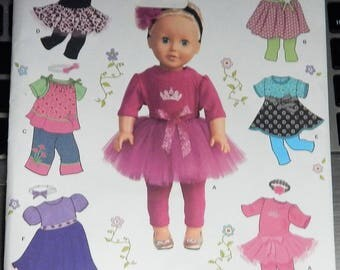 """2013 Simplicity 1711 OS UNCUT 18"""" Doll Clothes, for dolls such as American Girl"""