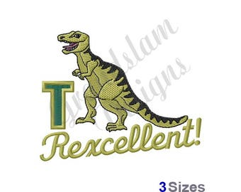 T Rex Dinosaur - Machine Embroidery Design