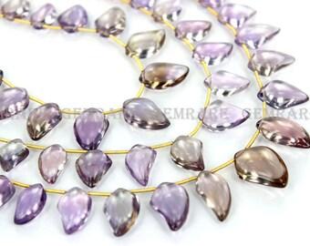 Ametrine Smooth Dagger beads, Quality AAA, 9x13.50 to 11x16.50 mm, 18 cm, 15 pieces, AMETRI-038/2, Semiprecious Gemstone Beads