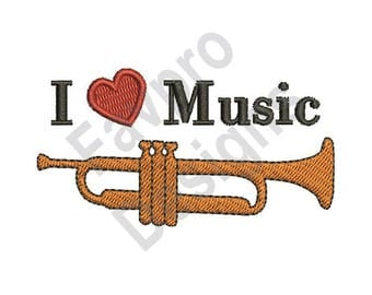 Love Music - Machine Embroidery Design