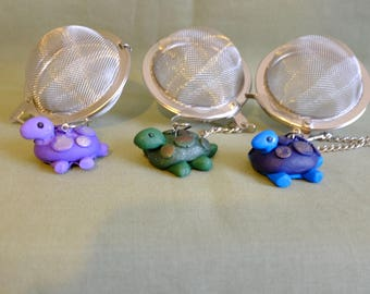 Turtle Mesh ball, tea ball, turtle tea ball, meshball, tea infuser, tea maker, turtle tea infuser