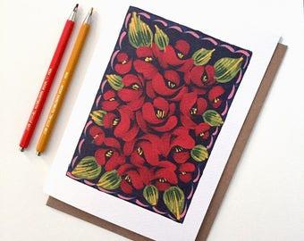 A5 Greetings Card, Print, Birthday, Wedding, Congratulations, Anniversary, Blank Card