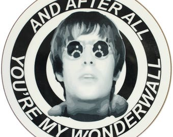 Wonderwall Round Coaster - Liam Gallagher Oasis Manchester Manc and Proud Northern Quarter Madchester '90s Britpop Indie City Mancunian