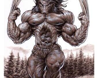 Wolverine Monster Art Print