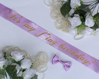 Birthday Party sash, Personalized sash, Birthday Girl, 18th Birthday, 21st Birthday, 30th Birthday, Sash for Birthday, Plus Size, Style B