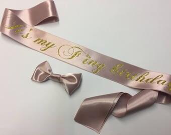 Birthday Party sash, Personalised sash, Birthday Girl, 18th Birthday, 21st Birthday, 30th Birthday, Sash for Birthday, Plus Size, Sash