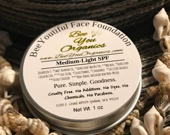 Natural Makeup ~ Organic Foundation ~ Organic Makeup ~ Foundation Makeup ~ SPF 30 (optional) ~ Organic Cosmetics ~ Natural Beauty Products ~