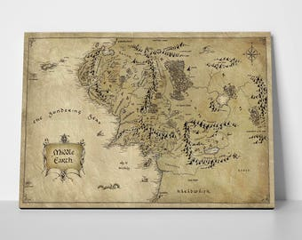 Lord Of The Rings, The Hobbit, Vintage Middle Earth Map