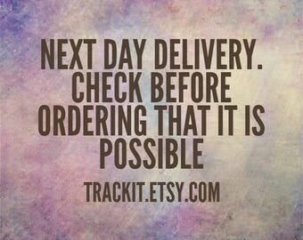 Next day delivery if ordered before 12. UK ONLY