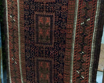 "2'9"" x 4'9"" Antique Persian Baluch Rug"