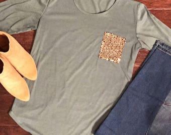 Glitter pocket, Glitter top, Glitter shirts, Trendy shirts, Modern shirts, stylish shirts