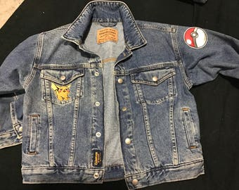 Vintage Osh Kosh jean jacket with patches