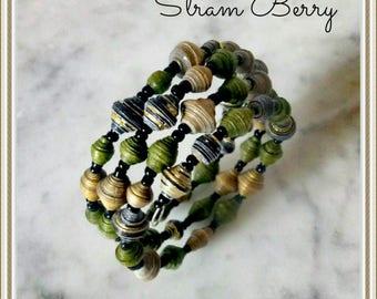 Elegant bracelet in paper