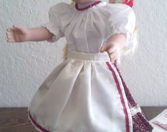 Hungarian Folk Dance Doll Clothing-18 Inches Doll Dresses- It suits American Girl doll