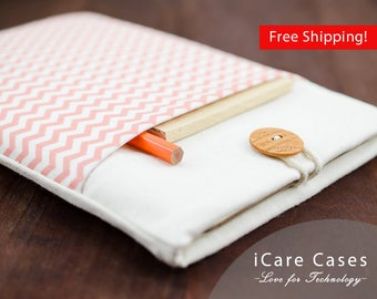 Mac Book Air 13 Case Chevron Coral Creamy Beige Zigzag Individual MacBook Air 13.3 Case MacBook Air 13.3 inch Case Apple MacBook Air Case 13