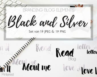 Branding blog elements - Black & Silver