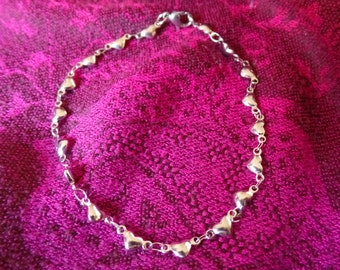 Stainless steel bracelet/anklet with Heart
