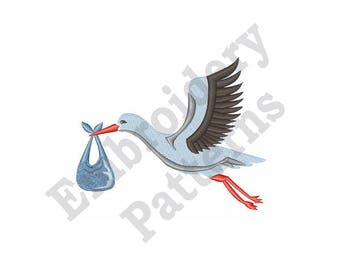Stork The Delivery - Machine Embroidery Design