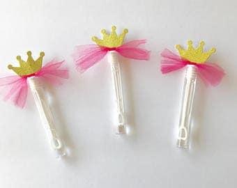 Princess Bubble Wands, Princess Party Favors, Princess Party