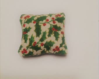 Metallic Holly Catnip Pillow