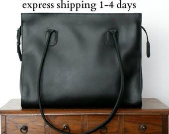 leather tote bag/ womens leather handbag/ shoppers bag/ shoulder bag/ genuine leather tote/ ladies tote/ womens tote/ code 60 Black colour