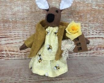 Rabbit, Felt Rabbit, Miniature rabbit, Easter bunny, gift for easter.
