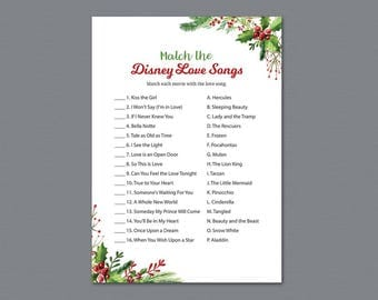Movie Love Quote Match Game, Christmas Match the Romantic Movies Trivia, Movie Love Quote Match, Holiday Seasonal Bridal Shower Games, A025