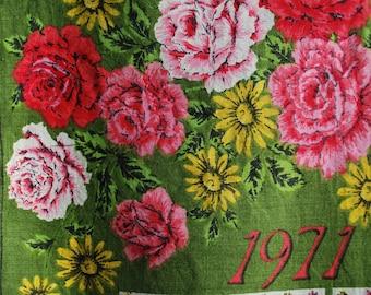 Tea Towel - 1971 Calendar