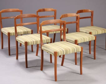 Set of six teak dining chairs by Ole Wanscher