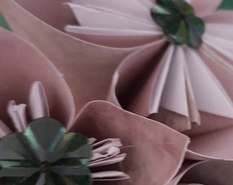 Shabby Chic Handmade Paper Flowers - Botanical Garden Collection