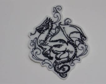 Fantasy Iron-On Patch. Embroidered Patch. Sew-on Patch. Glue-on Patch. Dragon Patch
