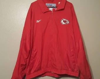 Kansas City Chiefs Pro Line Red Reebok Jacket