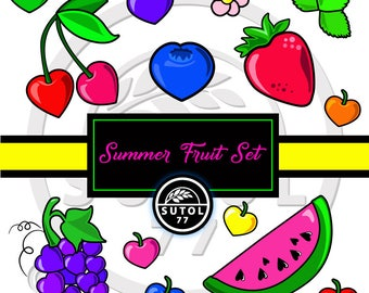 Summer Fruit Digital Set