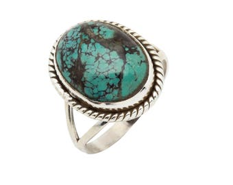 Turquoise ring, 925 sterling silver ring, Bohemian Ring, Gypsy Ring, handmade ring, silver Turquoise ring, gemstone ring, turquoise  42