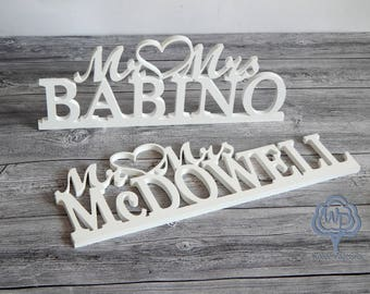 Summer Party Mr and Mrs Last Name  Mr and Mrs Wedding Sign Custom wedding sign Wooden Letter Custom  Mr Mrs Table Wall Decor Summer Outdoors