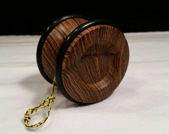 Exotic Bocote wood wooden yo-yo.