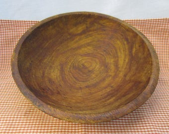 Hand Turned Bowl Wood Kneading Bowl Dough Bowl Antique Wood Kneading Bowl Wood Dough Bowl Primitive Bowl Antique Wood Bowl Wood Dough Bowl
